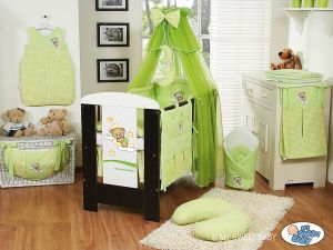Bedding set 7-pcs with mosquito-net (S60)- Good night green