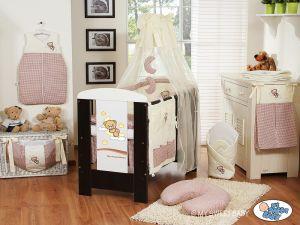 Bedding set 7-pcs with canopy (S70)- Good night brown