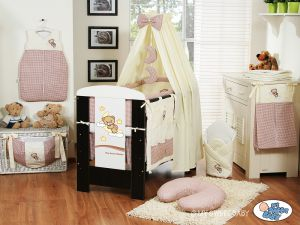 Bedding set 5-pcs with canopy (L60)- Good night brown