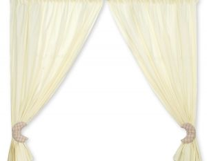 Curtains for baby room- Good night brown