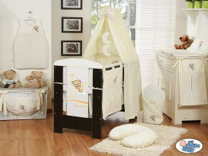 Bedding set 7-pcs with canopy (L70)- Good night cream