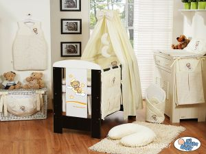 Bedding set 5-pcs with canopy (S60)- Good night cream