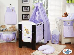 Bedding set 5-pcs with canopy (L60)- Good night lilac
