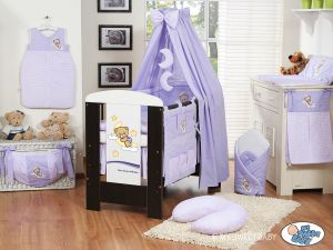 Bedding set 11-pcs with canopy(S60)- Good night lilac