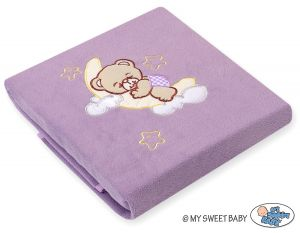 Polar fleece blanket- Good night lilac