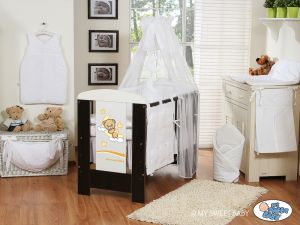 Bedding set 7-pcs with canopy (S70)- Good night white