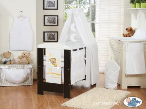 Bedding set 11-pcs with canopy(S60)- Good night white