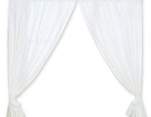 Curtains for baby room- Good night white