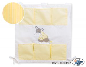 Cot tidy- Donkey Luca yellow