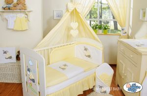 Bedding set 5-pcs with canopy- Donkey Luca yellow