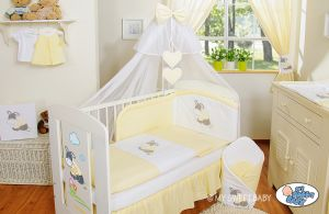 Bedding set 5-pcs with mosquito-net- Donkey Luca yellow