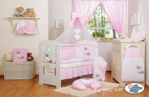 Bedding set 11-pcs with mosquito-net- Donkey Luca pink