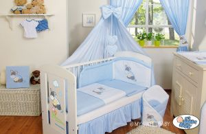 Bedding set 5-pcs with canopy- Donkey Luca blue