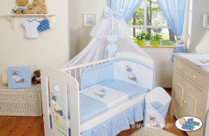 Bedding set 5-pcs with mosquito-net- Carlo- Donkey Luca blue