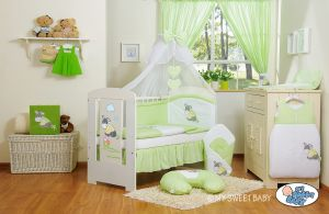 Bedding set 11-pcs with mosquito-net- Donkey Luca green