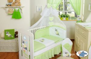 Bedding set 5-pcs with mosquito-net- Donkey Luca green