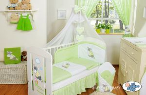 Bedding set 7-pcs with mosquito-net- Donkey Luca green