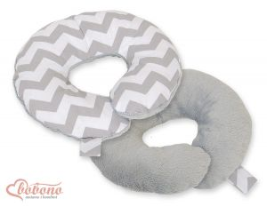 Double- sided baby Neck support pillow- Chevron grey