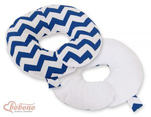 Double- sided baby Neck support pillow- Chevron navy blue
