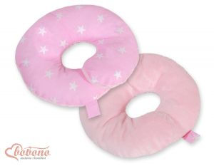 Double- sided baby Neck support pillow- Pink stars