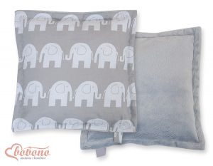 Doublesided Pillow-  Elephants grey
