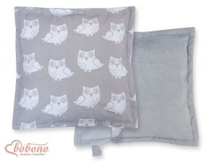 Doublesided Pillow-  Owls grey