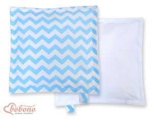 Doublesided Pillow-  Chevron blue