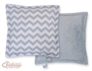 Doublesided Pillow-  Chevron grey