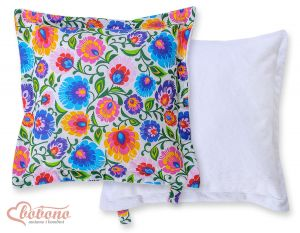 Doublesided Pillow-  Floral pattern white