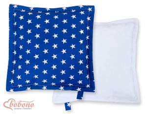 Doublesided Pillow-  Stars dark blue