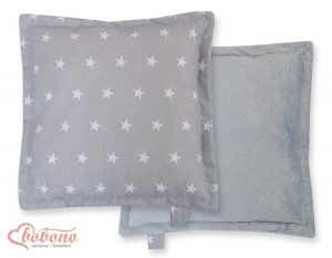 Doublesided Pillow-  Stars grey