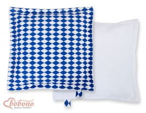 Doublesided Pillow-  Chessboard dark blue
