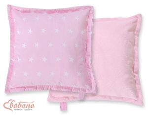 Doublesided Pillow-  Pink stars
