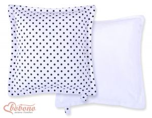 Doublesided Pillow-  Black dots on white