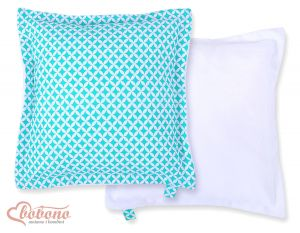 Doublesided Pillow-  Mint flowers