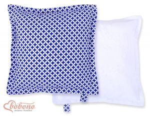 Doublesided Pillow- navy blue flowers