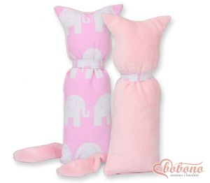Cuddly cat double-sided-Simple Elephants pink