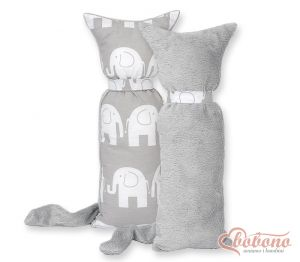 Cuddly cat double-sided-Simple Elephants gray