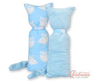 Cuddly cat double-sided-Simple Owls blue