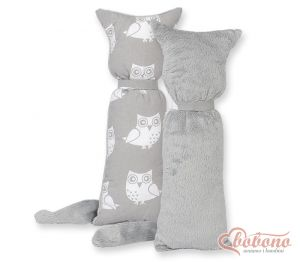 Cuddly cat double-sided-Simple Owls gray