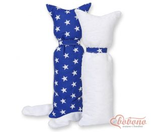 Cuddly cat double-sided-Simple Stars dark blue