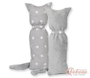 Cuddly cat double-sided-Simple Stars gray
