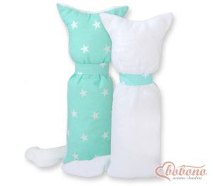Cuddly cat double-sided- Mint stars