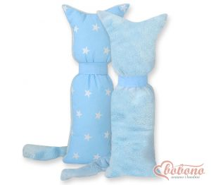 Cuddly cat double-sided- Blue stars