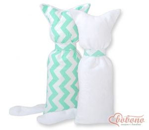Cuddly cat double-sided- Chevron mint