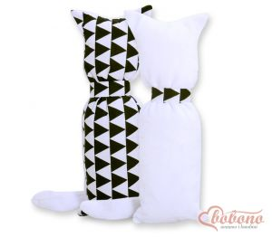 Cuddly cat double-sided- triangles black