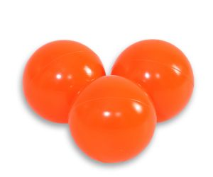 Plastic balls for the dry pool 50pcs - dark orange