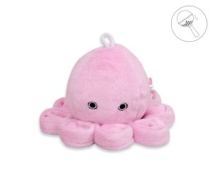 Cuddly octopus with rattle - pink