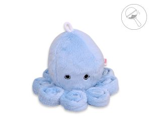 Cuddly octopus with rattle - blue