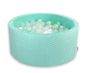 Ball-pit minky with balls 200pcs- mint